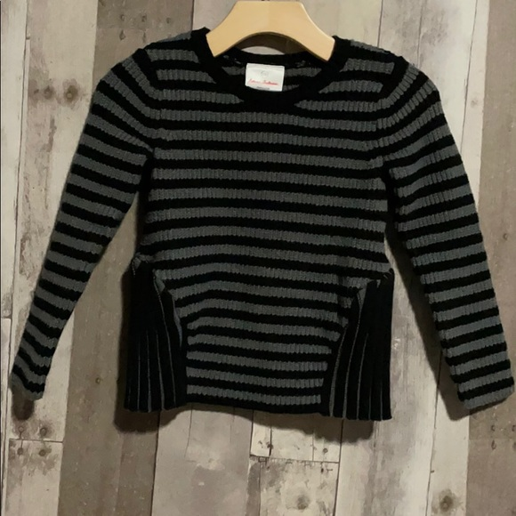 Hanna Andersson black & gray striped sweater